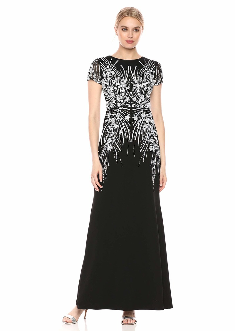 Adrianna Papell Women's Beaded T-Shirt Gown