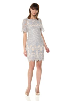 Adrianna Papell Women's Bell Sleeve Georgia Lace Sheath