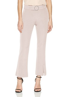 Adrianna Papell Women's Belted Split Bottom Bi Stretch Pant