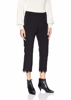 Adrianna Papell Women's BI Stretch Pant with LACE Detail ON Bottom