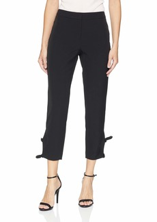 Adrianna Papell Women's BI Stretch Pant with Tie Detail on The Ankle