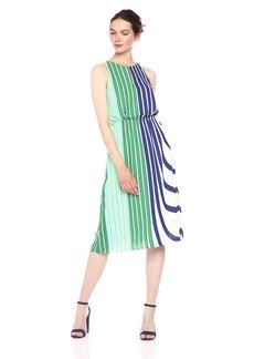 Adrianna Papell Women's Blouson Midi Halter Dress