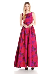 Adrianna Papell Women's Boatneck Sleeveless Ball Gown