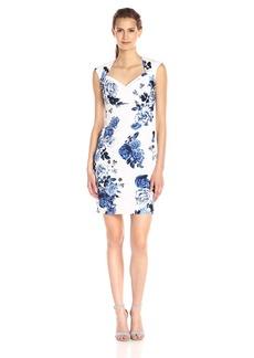 Adrianna Papell Women's Bolero Top Dress with Side-Pleat Detail