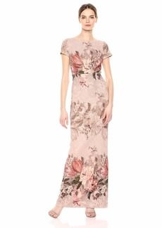 Adrianna Papell Women's Border Print Long Dress