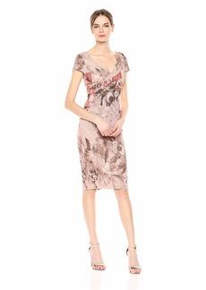 Adrianna Papell Women's Border Print Short Dress