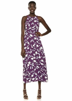 Adrianna Papell Women's Botanical Halter Maxi Dress