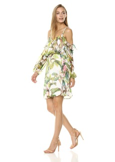 Adrianna Papell Women's BOTANTICAL Printed Blouson Dress