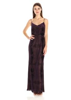 Adrianna Papell Women's Burn Out Velvet Blouson Gown