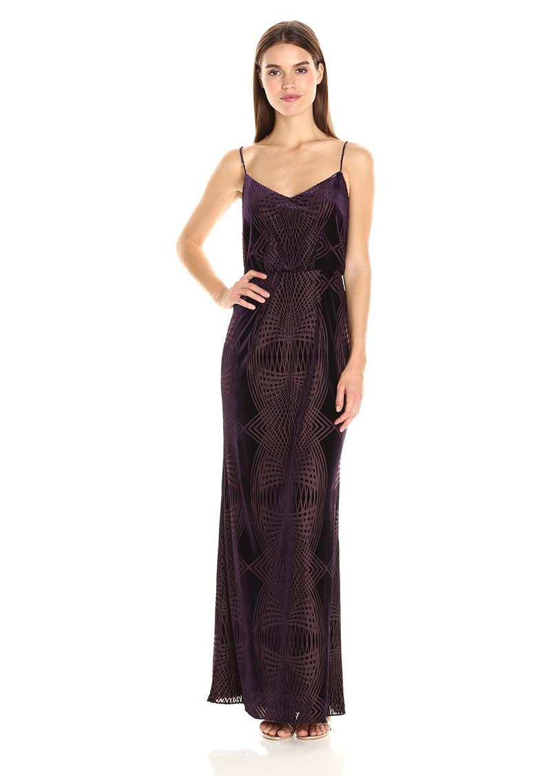 Adrianna Papell Women's Burn Out Velvet Blouson Gown