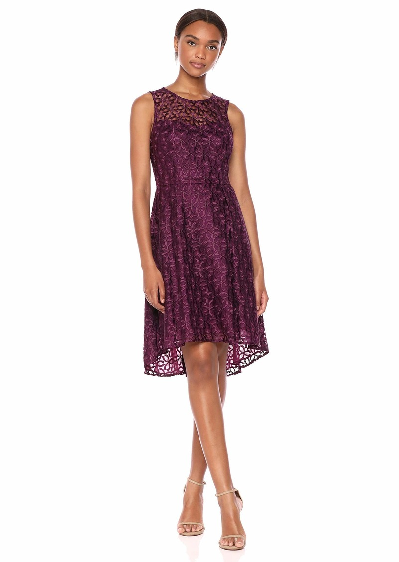 Adrianna Papell Women's Buttercup Blooms Flared Dress