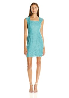 Adrianna Papell Women's Cap Sleeve Lace Sheath Dress