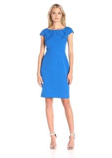 Adrianna Papell Women's Cap-Sleeve Origami Sheath Dress