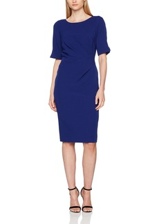 Adrianna Papell Women's Cap Sleeve Side Rouch Wrap Dress