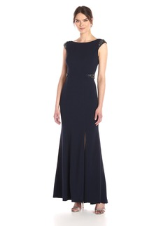 Adrianna Papell Women's Cap Sleeved Mermaid Gown