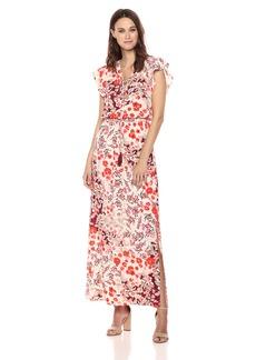 Adrianna Papell Women's Capsleeve Maxi Dress