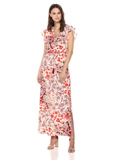 Adrianna Papell Women's Capsleeve Maxi Dress
