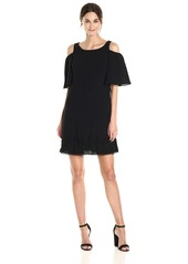 Adrianna Papell Women's Cold Shoulder Dress