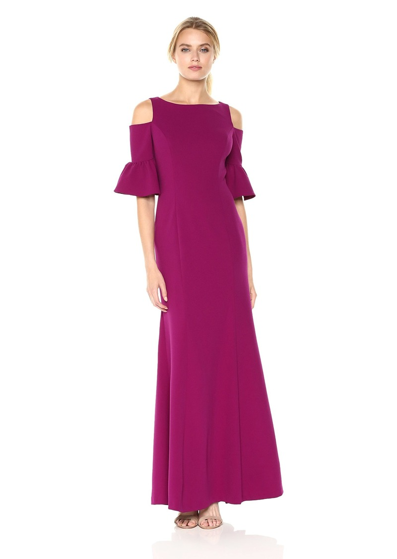 Adrianna Papell Adrianna Papell Women\'s Cold Shoulder Long Gown with ...