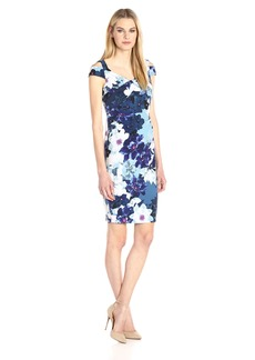 Adrianna Papell Women's Cold Shoulder Origami Steath Dress