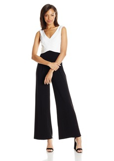 Adrianna Papell Women's Colorblocked Matte Jersey Jumpsuit