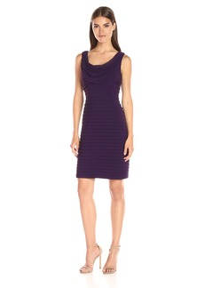 Adrianna Papell Women's Cowl Neck Dress with Banded Skirt  M