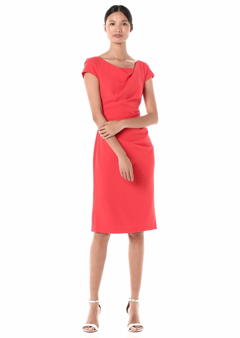 Adrianna Papell Women's Cowl Side Rousched Sheath Dress