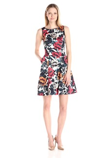 Adrianna Papell Women's Cutaway Fit and Flare