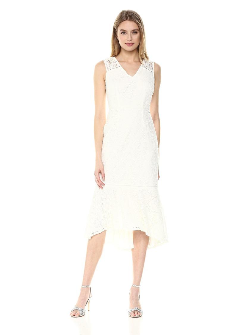 Adrianna Papell Women's Cynthia LACE Flounce Sheath Dress