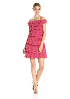 Adrianna Papell Women's Cynthia Lace Tiered Dress
