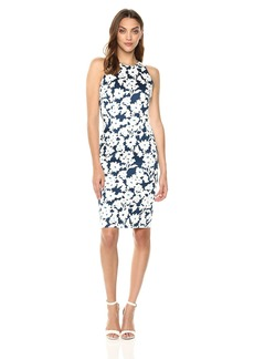 Adrianna Papell Women's Daisy Field Sleeveless Bodycon