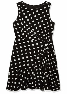 Adrianna Papell Women's DOT Printed FIT and Flare