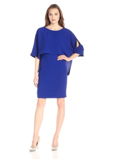 Adrianna Papell Women's Draped Blouson Sheath Dress