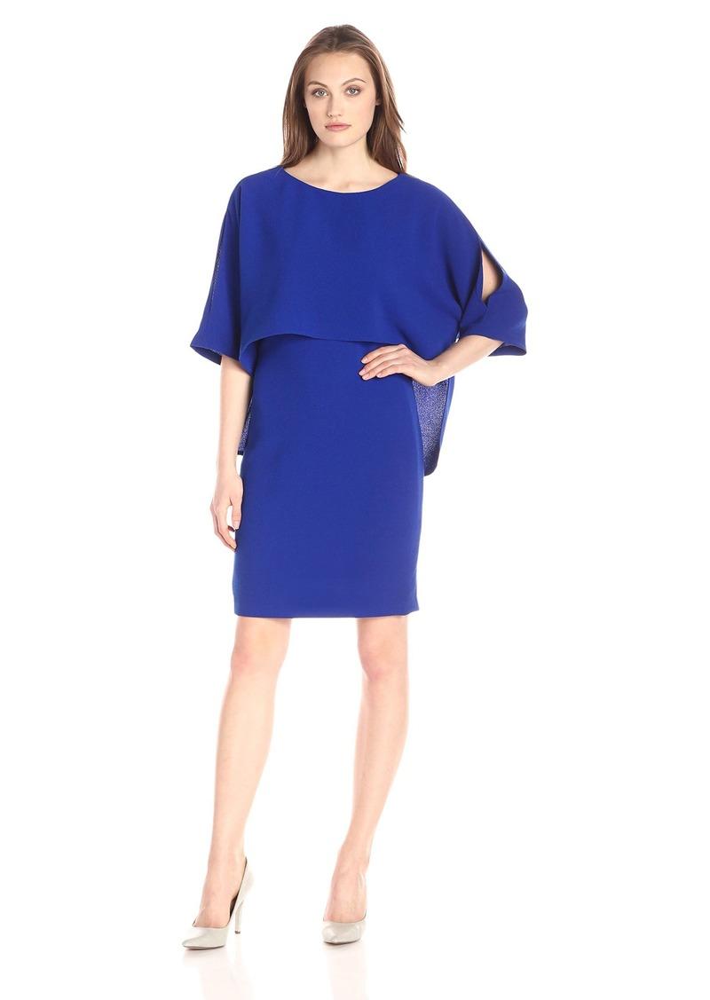 Adrianna Papell Women's Draped Blouson Sheath Dress