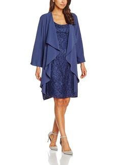 Adrianna Papell Women's Draped Jacket with Lace Dress