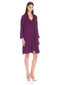 Adrianna Papell Women's Draped Jacket W/ Lace Dress