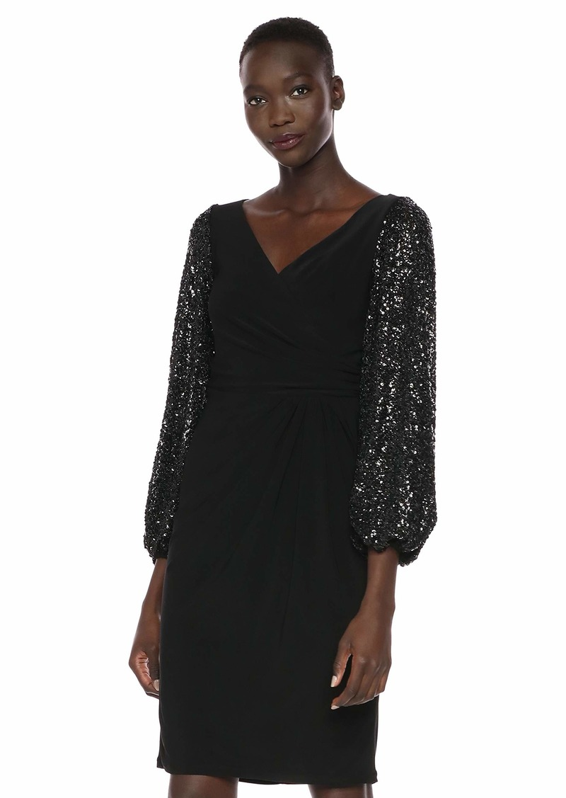 Adrianna Papell Women's Draped Jersey Cocktail Dress