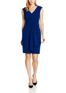 Adrianna Papell Women's Draped Surplice Neckline Sheath Dress