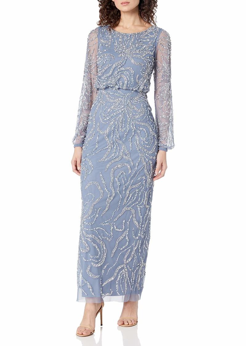 Adrianna Papell Women's ED Blouson Gown
