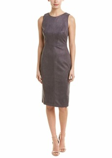 Adrianna Papell Women's Elbow Sleeve Scuba Suede Sheath Dress