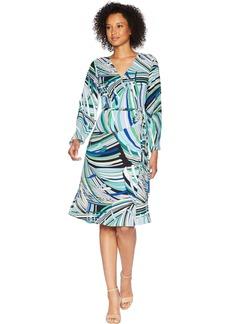 Adrianna Papell Women's Emilio Maze MIDI WRAP Dress