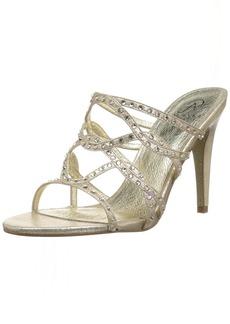 Adrianna Papell Women's Emma Heeled Sandal gold sterling metallic  M US
