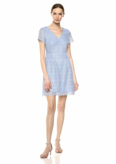 Adrianna Papell Women's Emmy LACE A-LINE Dress iced Lapis