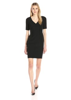 Adrianna Papell Women's Exposed Dart Stretch Crepe Dress