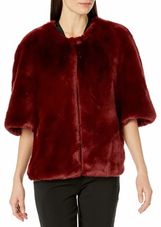 Adrianna Papell Women's Faux Fur Jacket  L
