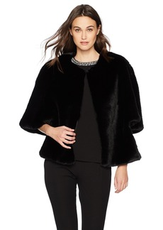 Adrianna Papell Women's Faux Fur Jacket  M