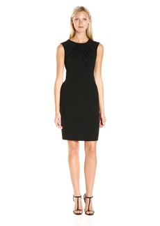 Adrianna Papell Women's Faux Overlapping Bodice Sheath Dress