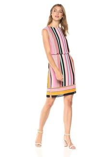 Adrianna Papell Women's Fiesta Stripe Blouson Dress