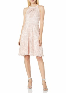 Adrianna Papell Women's Filigree Lace Fit and Flare