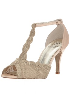 Adrianna Papell Women's Firenze Pump Gold attalie lace  M US